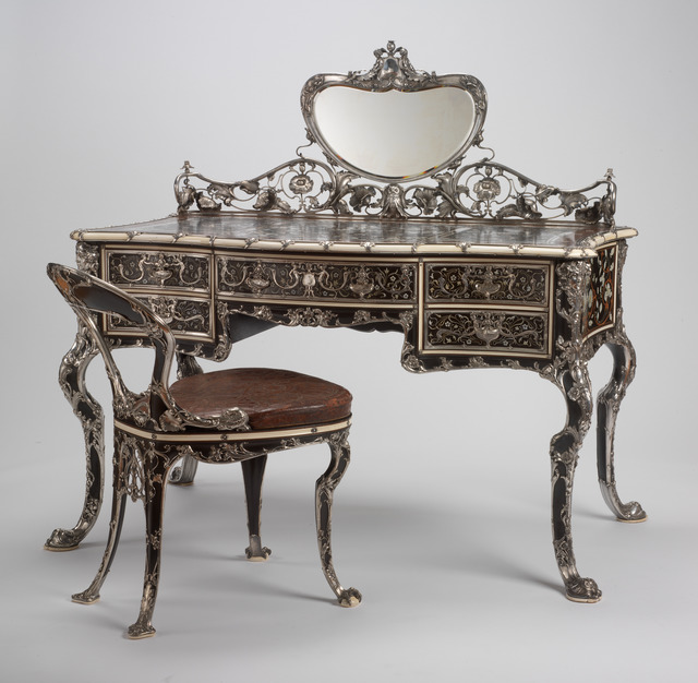 Gorham Manufacturing Company, 'Lady's Writing Table and Chair', 1903, RISD Museum