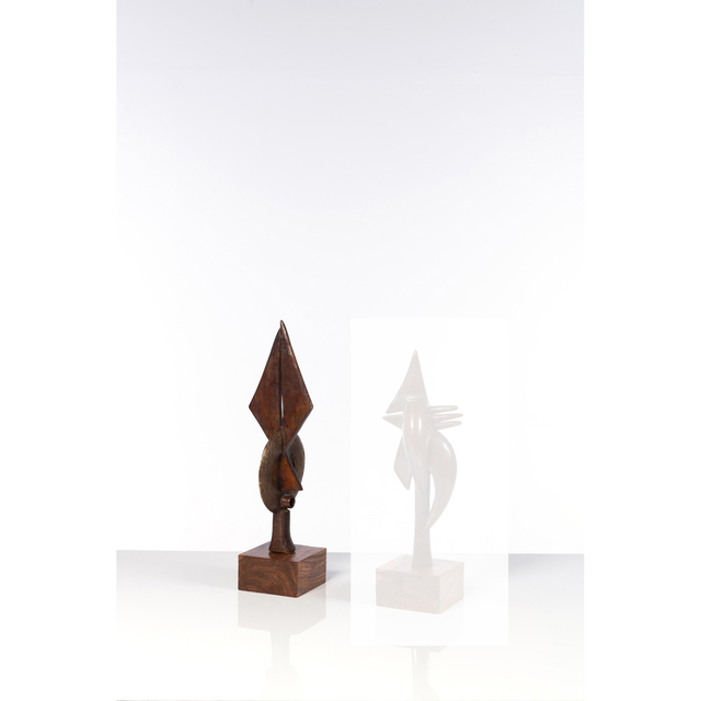Abou Traoré, 'Sans Titre', Sculpture, Lost wax bronze, wooden base, PIASA