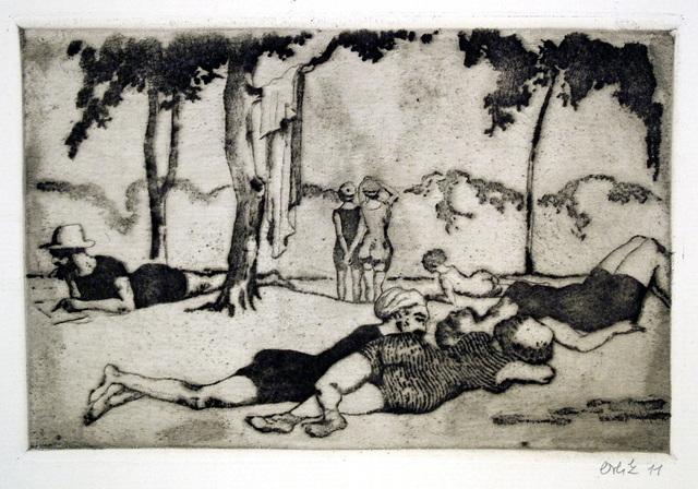 Emil Orlik, 'Am Gänsehäufel in Wien', 1911, Harris Schrank Fine Prints