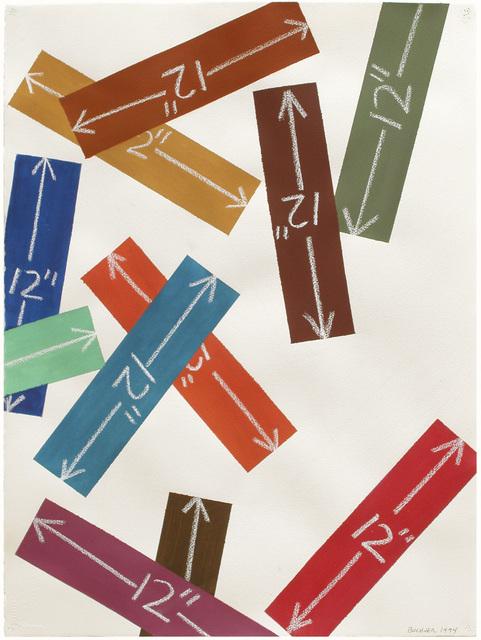 """, 'Measurement: 12"""" (Slip),' 1994, Marc Selwyn Fine Art"""