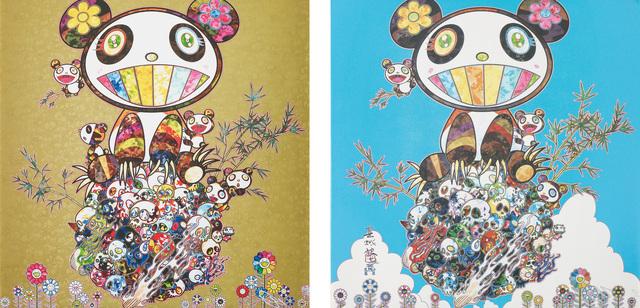 Takashi Murakami, 'Panda Family; and Panda Family - Happiness', 2014; and 2016, Phillips