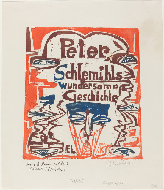 Ernst Ludwig Kirchner, 'Peter Schlemihls wundersame Geschichte (Title Page)', 1915, National Gallery of Art, Washington, D.C.