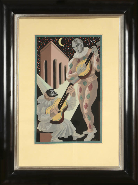 Gino Severini, 'Gino Sevrini, Fleurs et Masques: a Set of Six Pochoir plates, 1930', 1930, Shapero Modern
