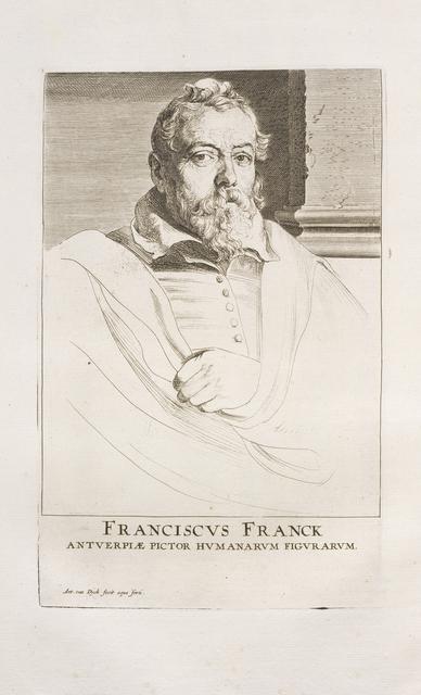 Anthony van Dyck, 'Franciscus Franck Antverpiae pictor humanarum figurarum', 1759, Getty Research Institute
