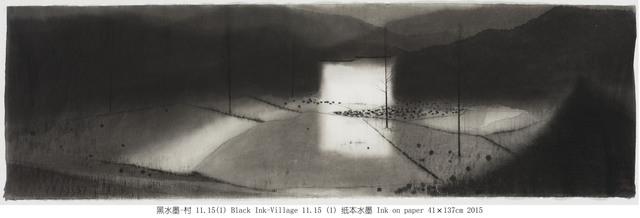 , '黑水墨-村 11.15(1) Black Ink-Village 11.15 (1),' 2015, Amy Li Gallery