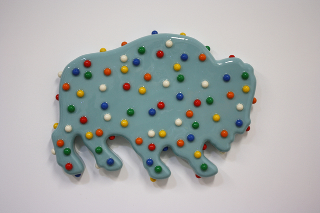 , 'Buffalo Cookie (Turqoise),' 2016, Turner Carroll Gallery