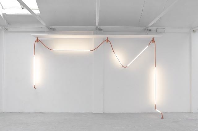 "Os and Oos, '""Mono Light"" installation', 2015, Galerie Gosserez"