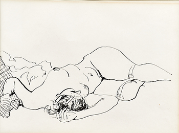 Foreshortened Reclining Figure