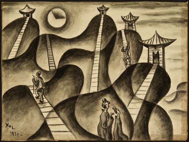 , 'Cuatro pagodas,' 1951, Galería Rubbers Internacional