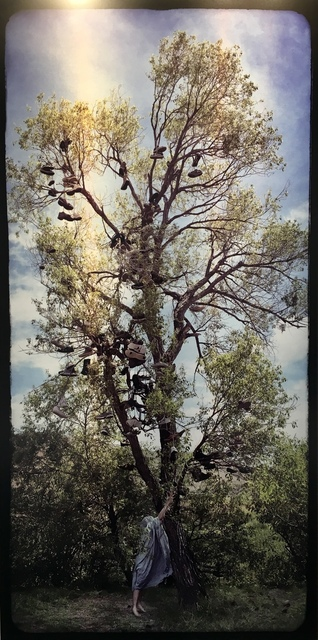 , 'Sheeted Figure at the Shoe Tree,' 2017, JAYJAY
