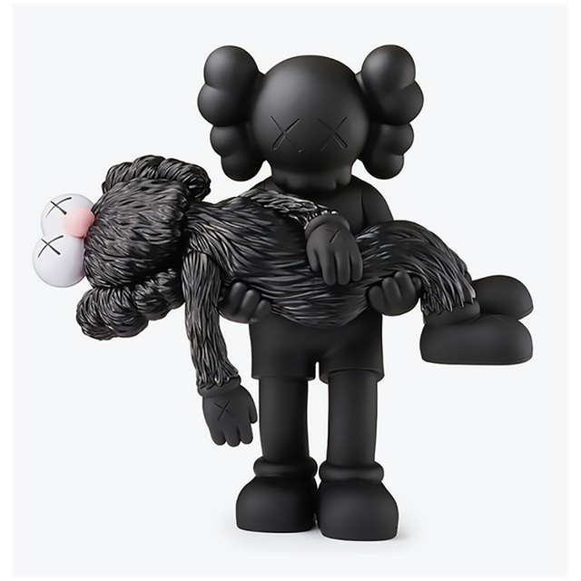 KAWS, 'KAWS GONE Companion Black (KAWS black companion)', 2019, Lot 180
