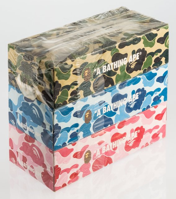 BAPE, 'ABC Camo 3 pack box of tissues', c. 2011, Heritage Auctions