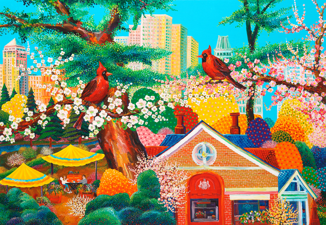 , 'New York - Scenery with Cardinals,' 2017, Soul Art Space