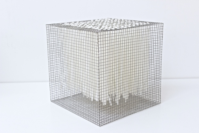 , 'RNcube1-08 Wire Mesh with Paper Cube,' 2008, Tayloe Piggott Gallery