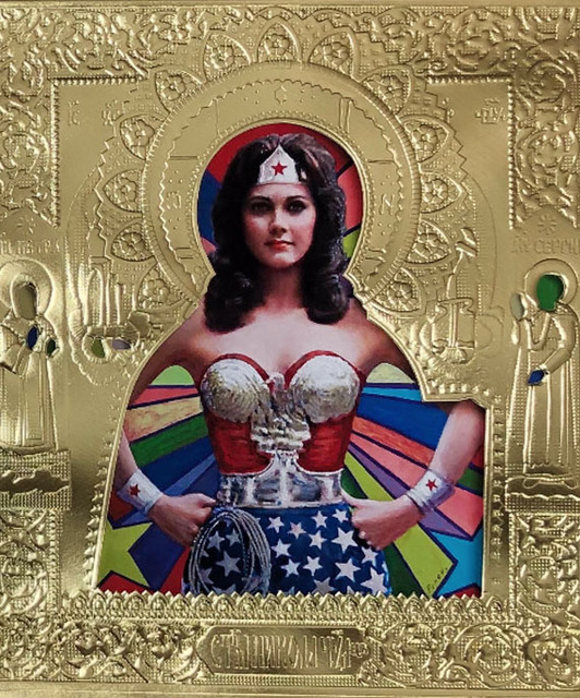 ", '""St Wonder Woman on Paper"",' 2019, Julie Zener Gallery"