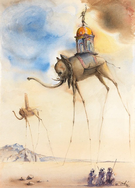 Salvador Dalí, 'Elephant Spatiaux ', 1965, Off The Wall Gallery