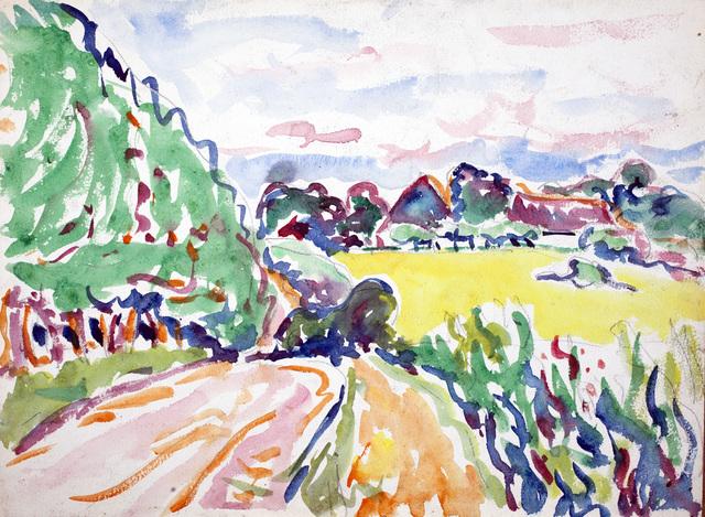 , 'Landschaft mit Bäumen,' 1907, Beck & Eggeling