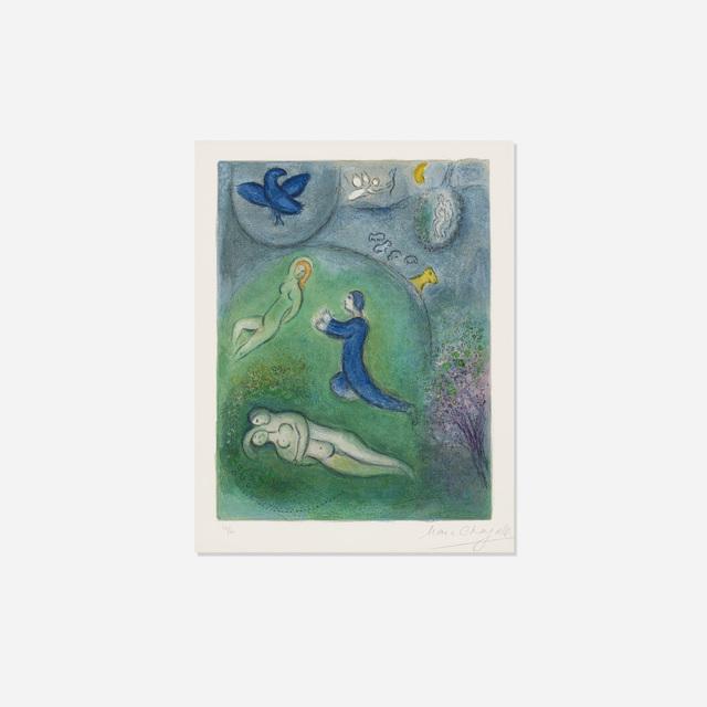 Marc Chagall, 'Daphnis et Lycenion (from Daphnis et Chloe)', 1961, Rago/Wright