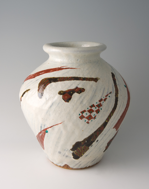 , 'Vase, white glaze with akae decoration,' 2010, Pucker Gallery
