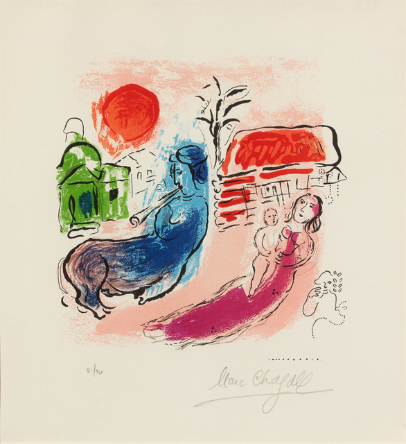Marc Chagall, 'Maternité au centaure from Chagall by Jacques Lassaigne', 1957, Hindman