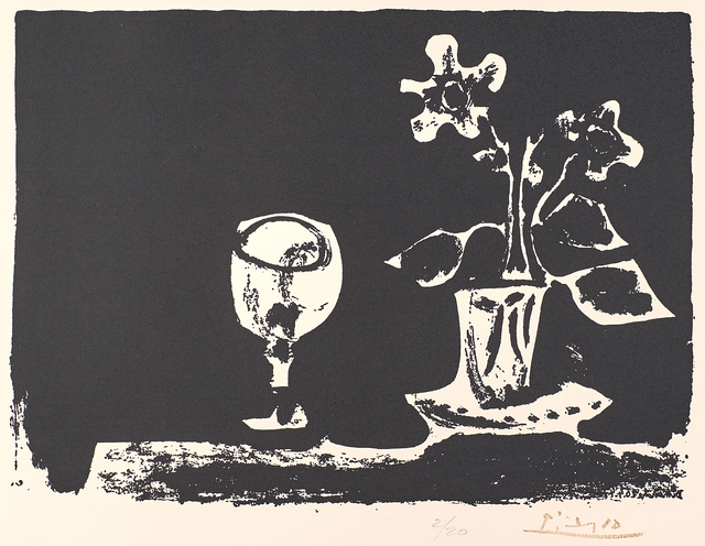 Pablo Picasso, 'Still Life with Glass and Flowers, from The Poem of Paul Eluard', Rago