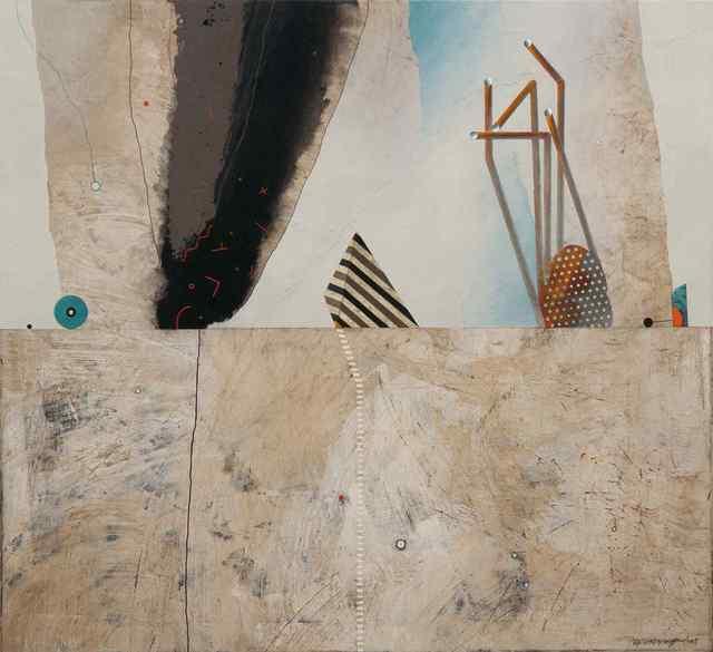 , 'Skyline with striped pyramid,' 2018, Vanda Art Gallery