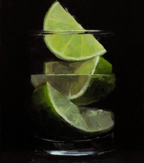 Tom Giesler, 'Floral 47: lime on lime', 2021, Painting, Oil on panel, McVarish Gallery