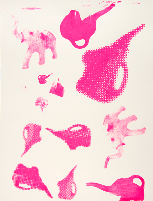, 'Pink Elephants,' 2016, The Lionheart Gallery