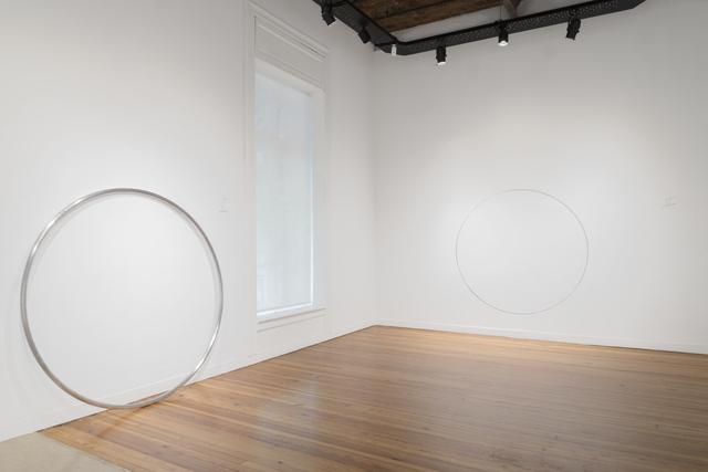 , 'Desplazamiento de un círculo negro I y II,' 2018, Herlitzka + Faria