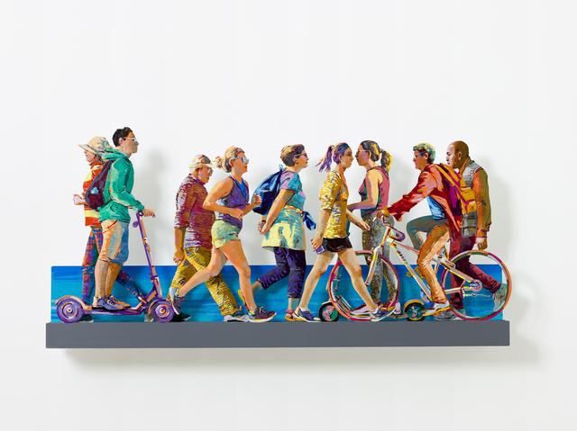 David Gerstein, 'TEL AVIV BEACH PROMENADE特拉維夫海濱(Right)', 2019, Installation, Aluminum鋁 3層, Artrue Gallery