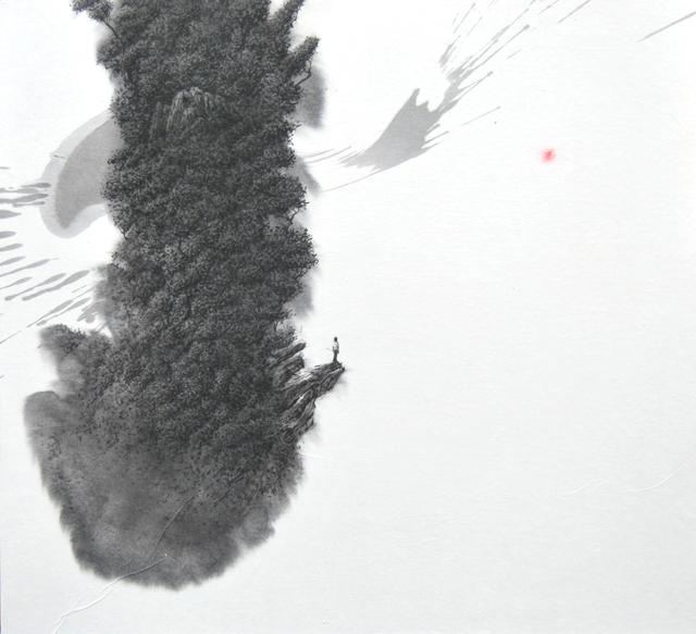 , 'Landscape born from a single brushstroke III,' 2013, Galerie Dumonteil