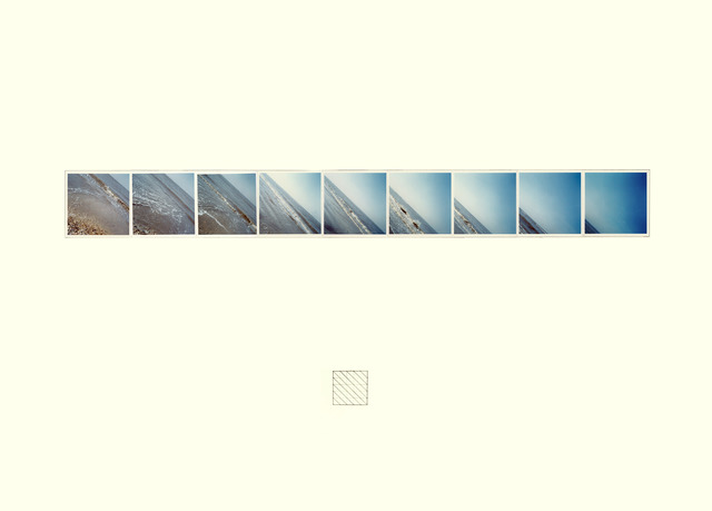 Jan Dibbets, 'Sea L 450 Horizon', 1971, 9 color photographies on cardboardframed, Konrad Fischer Galerie