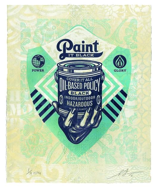 , 'Paint It Black (Hand),' 2016, Underdogs Gallery