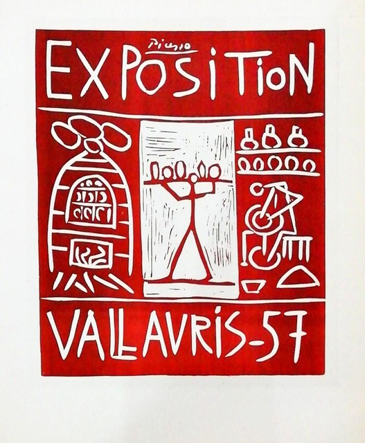 Pablo Picasso, 'Exposition Vallauris - with figure', 1959, Hidden