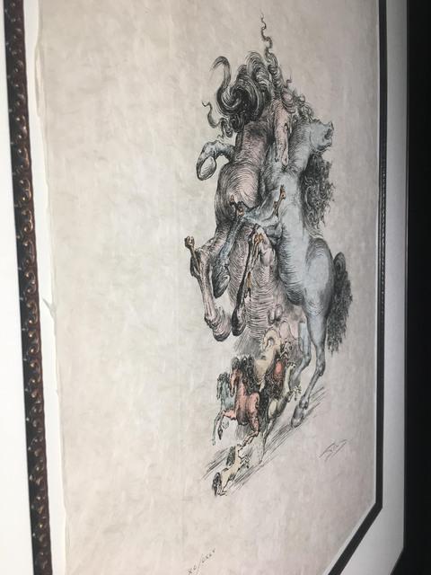 Salvador Dalí, 'Les Chevaux Surrealistes (Surrealist Horses)', 1975, Print, Color engraving on woven Japon paper, Baterbys
