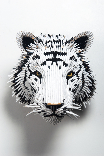, 'White Tiger Head,' 2017, Adelson Galleries