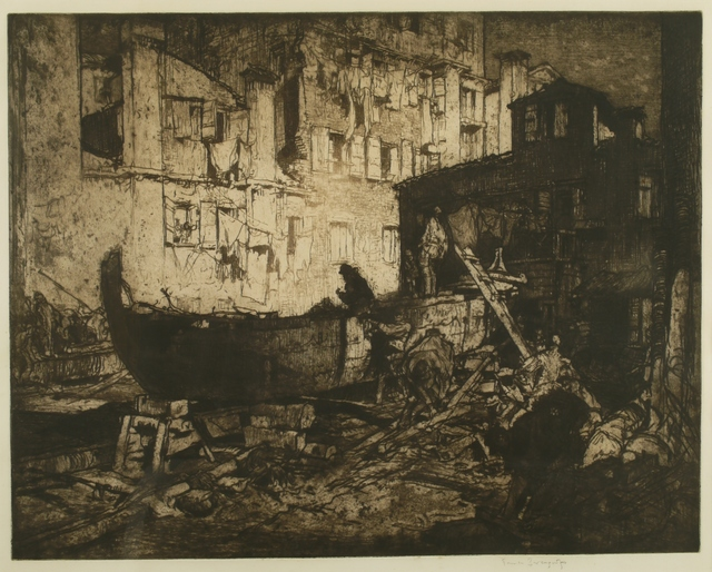 Sir Frank Brangwyn, 'The Boatyard, Venice', 1908, Private Collection, NY