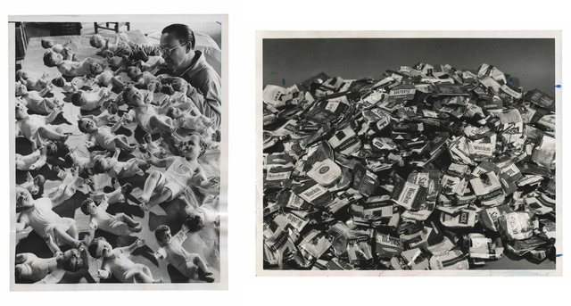 , 'TQ 41/42: A Part of Christmas/Cigarette Packs,' 1954/1971, Moss Bureau