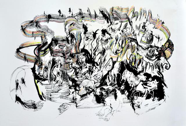 Luis Felipe Noe, 'A los manotazos', 2011-2012, Centro de Edición