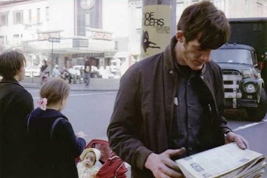 Helen Levitt, 'N.Y.C. (man with newspaper)', 1971, Laurence Miller Gallery