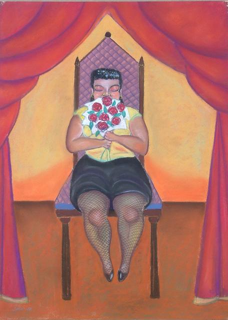 Stephen Basso, 'small woman on a big chair', 1988, Tabla Rasa Gallery