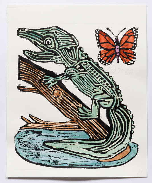 , 'Alligator with Butterfly (AF Print31) ,' 2000, The Good Luck Gallery