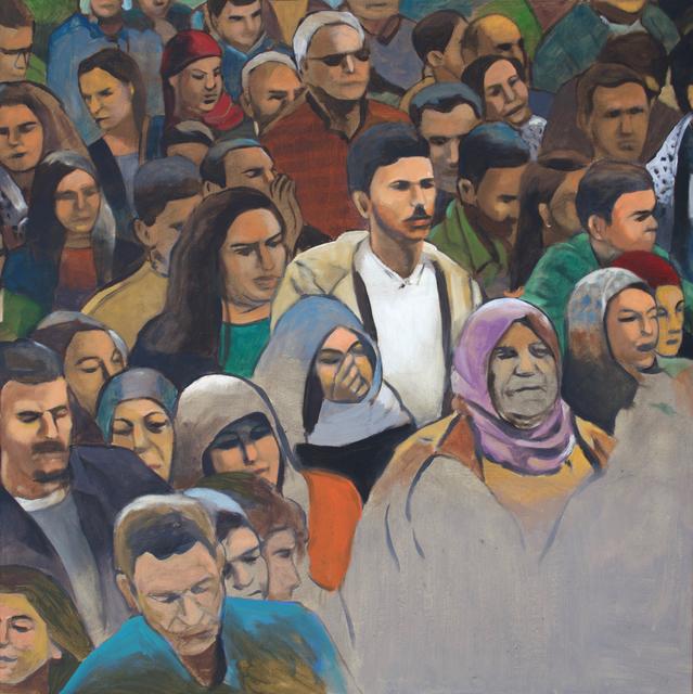 , 'Crowd #2,' 2019, Zawyeh Gallery