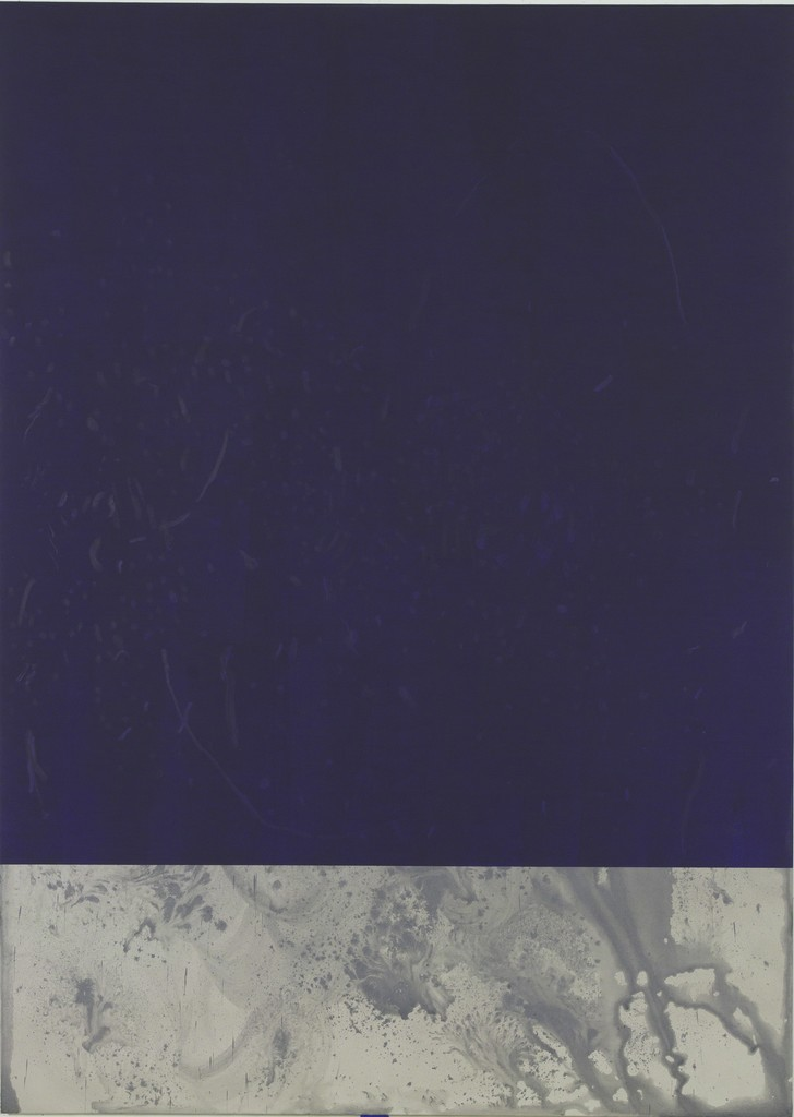 Untitled painting, Blue Violet and Beige