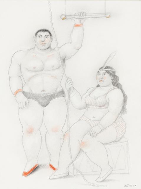 Fernando Botero, 'Trapezist couple with a rope', 2007, Opera Gallery