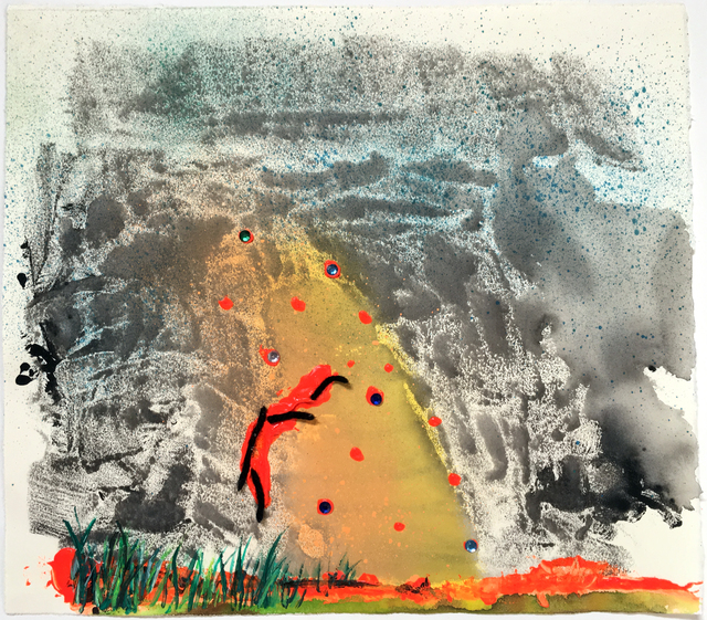 """Vivian Liddell, '""""Atomic Frown""""- Mixed Media, Small, Square, Feminist, Framed Work on Paper', 2017, Drawing, Collage or other Work on Paper, Mixed Media, Gallery 1202"""