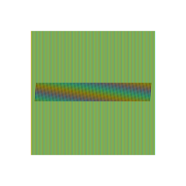 , 'Induction Chromatique a Double Frequence Marcigny 2,' 2008, Puerta Roja