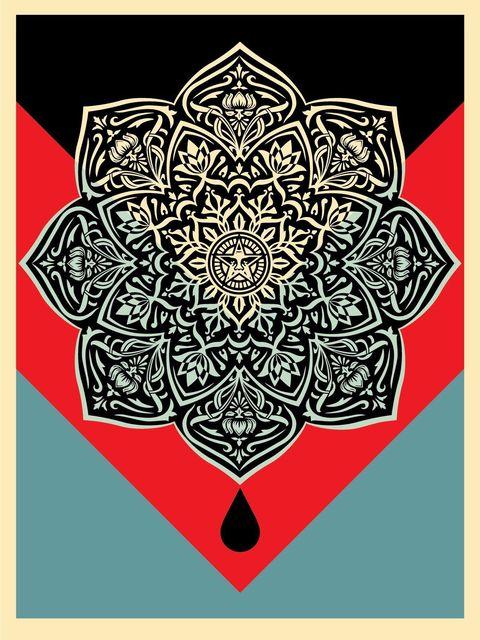Shepard Fairey, 'Oil Mandala', 2017, AYNAC Gallery