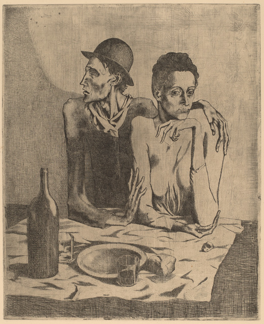 Pablo Picasso, 'The Frugal Repast (Le repas frugal)', 1904, National Gallery of Art, Washington, D.C.
