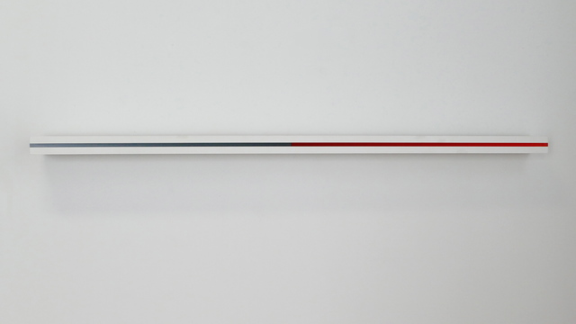 Adam Barker-Mill, 'Shadowgap Long Grey/ Red', 1992, Bartha Contemporary